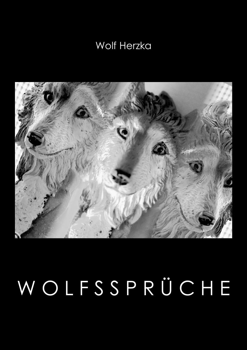 Wolf Herzka Tier Laute Blumen Cover